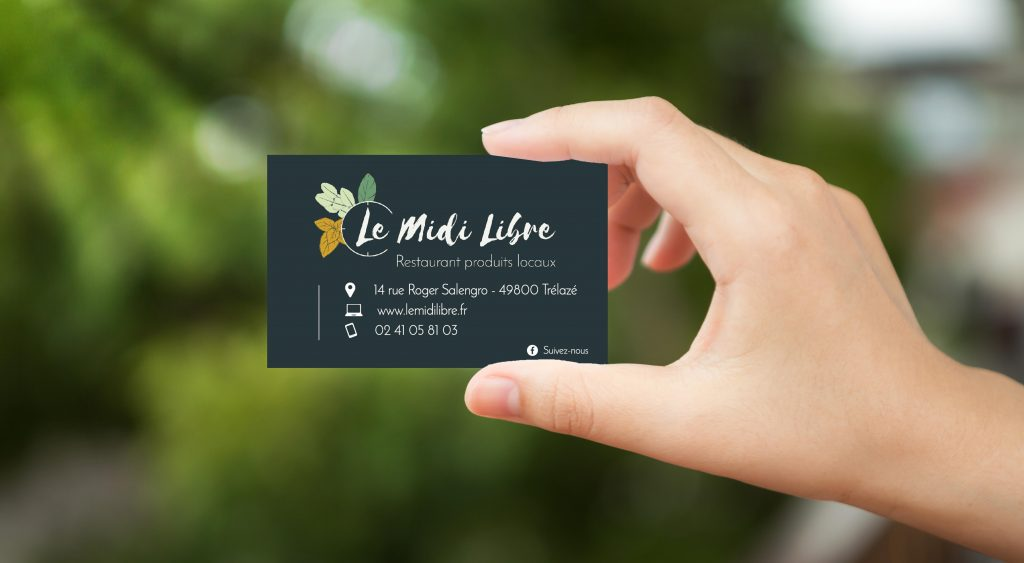 Hand hold white blank business card